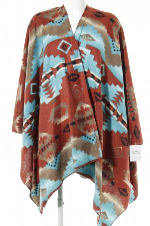 Urban Outfitters Strickponcho abstraktes Muster Casual-Look