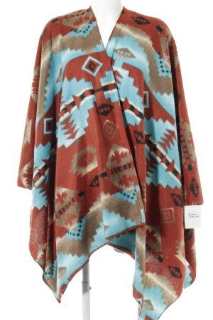 Urban Outfitters Poncho in maglia motivo astratto stile casual