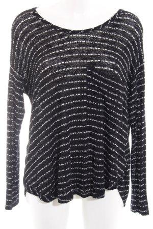 Urban Outfitters Strickpullover schwarz-wollweiß Streifenmuster Casual-Look