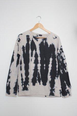 Urban Outfitters Kraagloze sweater wit-zwart