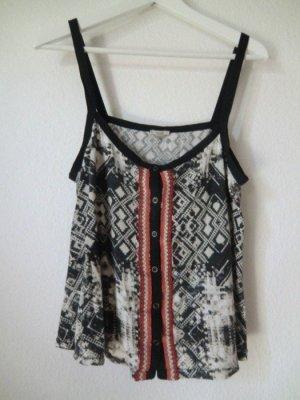 Urban Outfitters Top Ethno 100% Viskose Aztek print Muster Oberteil tank shirt