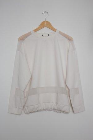 Urban Outfitters -  weißer Sweater mit tranparenten Einsätzen