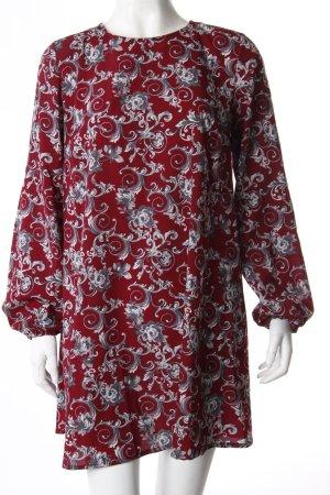 Urban Renewal Vintage Blusenkleid bordeauxrot Blumenprint