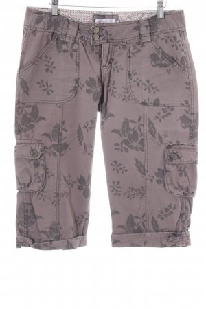 Urban Surface Bermudas light grey-lilac flower pattern casual look