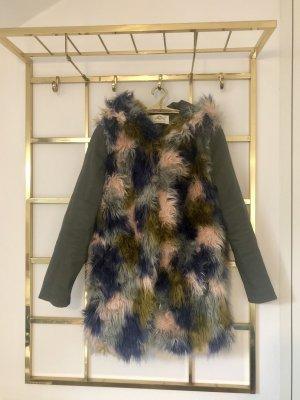 Urbancode Fake Fur Coat multicolored