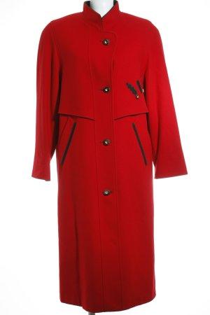 Ursl Trachten Cappotto in pile rosso-nero stile classico