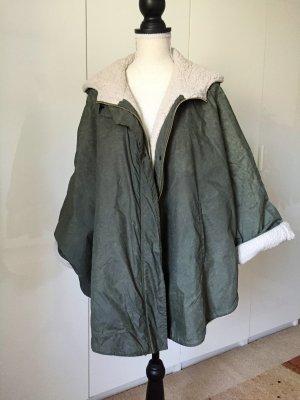 Manteau à capuche multicolore