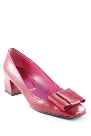 Ursula mascaró High Heels rot Glanz-Optik