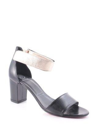 Ursula mascaró Riemchen-Sandaletten schwarz-goldfarben schlichter Stil