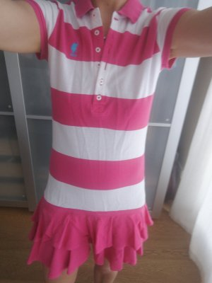 Robe Polo blanc-rose