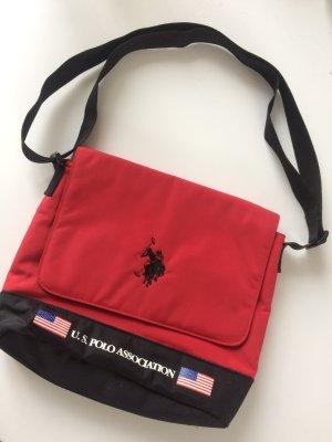 US Polo Association Crossbody Nylon Bag schwarz rot Umhängetasche kleine Tasche
