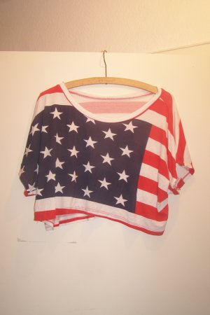 USA cropped oversized Shirt S/M/L