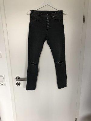 H&M Divided Skinny Jeans dark grey