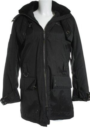 Used II Jeans Winterjacke schwarz Casual-Look