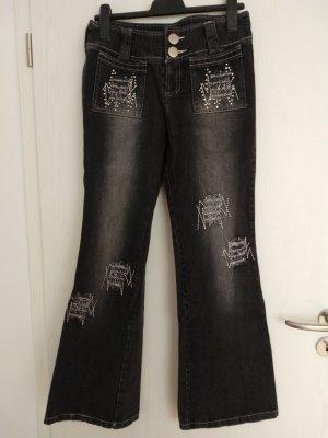 Boot Cut Jeans multicolored cotton