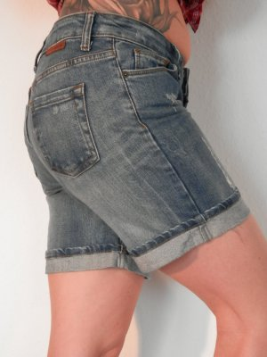Used Look Jeans Shorts Boyfriend Street Style Blogger Denim Festival Look