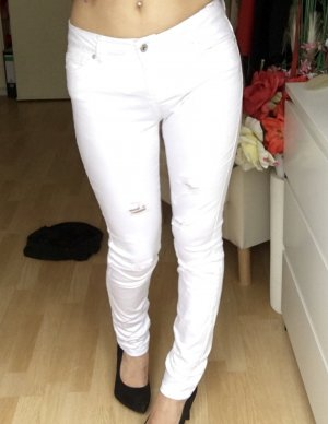 Used Look Jeans Skinny Fit - white