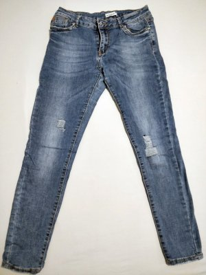 Used Look Jeanshose von Hailys, Gr. L (40), Cut out