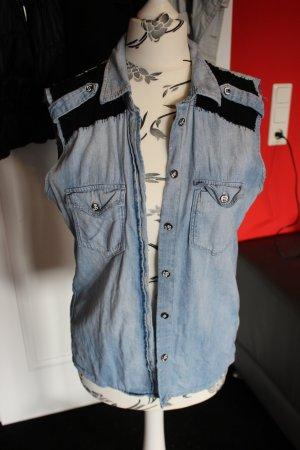 Used-look Jeansweste