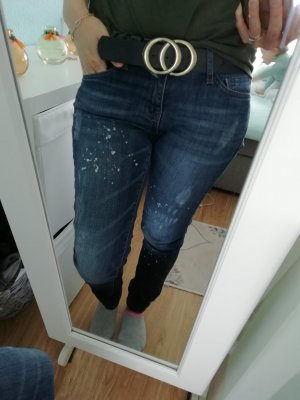 used look mango Jeans Arizona mit farbklecksen