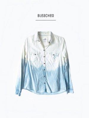Used Look ombre washout batik bluse 100% cotton bleached / h&m