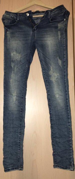 Used-Look Stretch Jeans von Lexxury