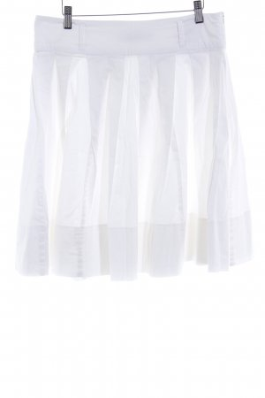 Usha Plaid Skirt white casual look
