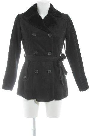Usha Veste d'hiver noir style décontracté