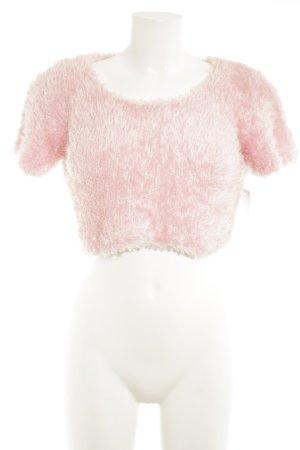 Uta Raasch Kurzarmpullover rosa extravaganter Stil