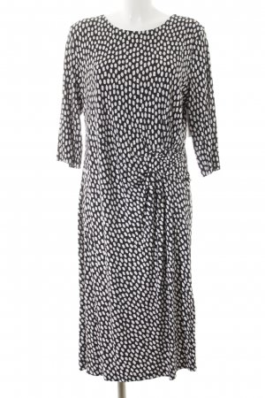 Uta Raasch Midi Dress black-white spot pattern casual look