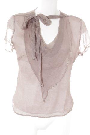 Uta Raasch Zijden blouse mauve elegant