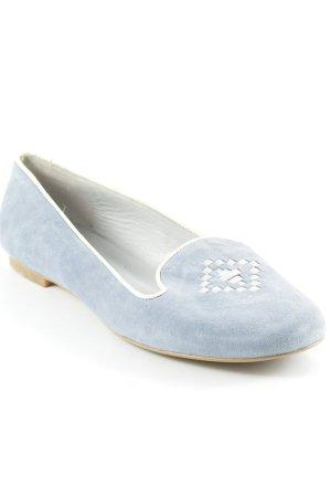 Uta Raasch Slingback Ballerinas azure-light grey street-fashion look