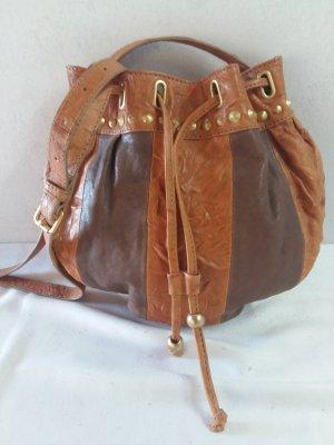 Uterqüe Crossbody bag cognac-coloured