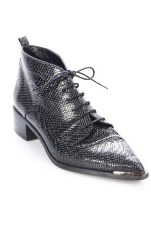 Uterqüe Ankle Boots schwarz klassischer Stil