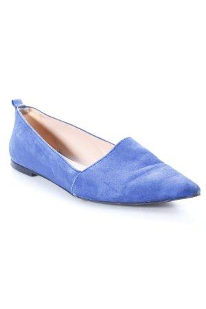 Uterqüe Bailarinas con punta azul acero estilo clásico