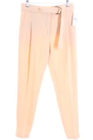 Uterqüe Pantalone a pieghe crema stile professionale