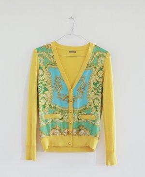 UTERQÜE Cardigan Feinstrick Maulbeerseid Designer Vintage 36 inkl. Halskette