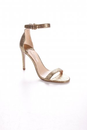 Uterqüe High Heel Sandal gold-colored leather