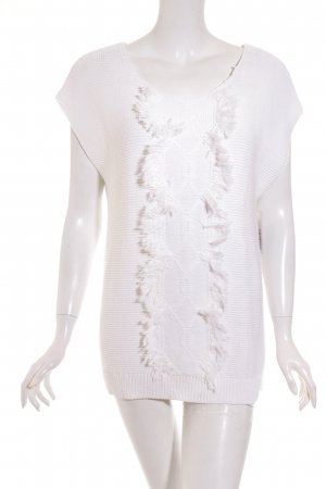 Uterqüe Short Sleeve Sweater white Boho look