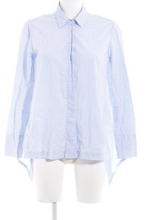 Uterqüe Shirt met lange mouwen lichtblauw zakelijke stijl