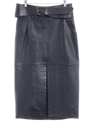 Uterqüe Lederrock schwarz Elegant