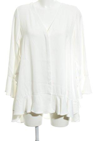 Uterqüe Long-Bluse weiß Elegant