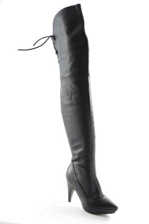 Uterqüe Overknees schwarz extravaganter Stil