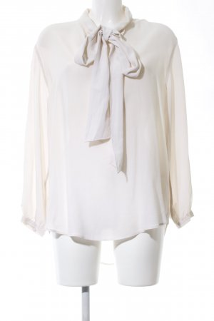 Uterqüe Tie-neck Blouse white casual look