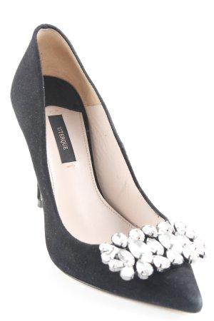Uterqüe Spitz-Pumps schwarz Elegant