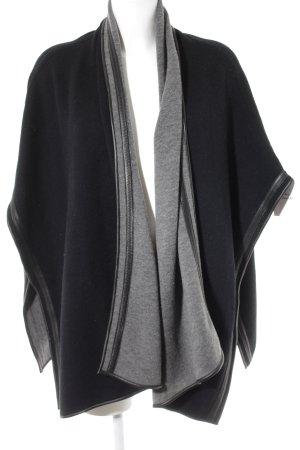 Uterqüe Poncho in maglia nero stile casual