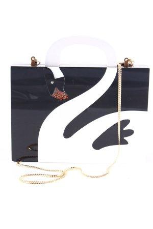 Uterqüe Umhängetasche schwarz-weiß Elegant