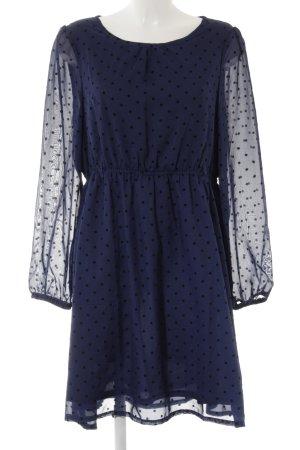 Uttam Boutique Chiffonkleid dunkelblau-schwarz Punktemuster Casual-Look