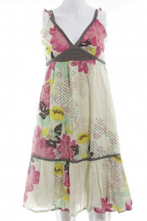 Uttam Boutique Pinafore dress floral pattern beach look