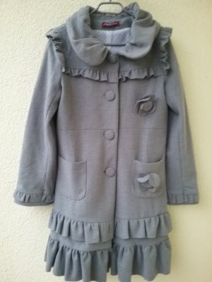 Uttam london Long Jacket silver-colored polyester